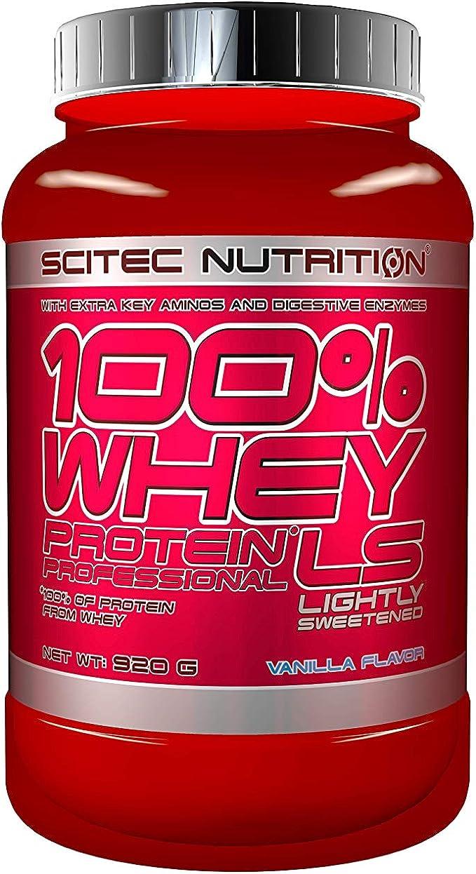 Scitec Nutrition 100% Whey Protein Professional Lightly Sweetened Proteína Ligeramente Endulzado Vainilla - 920 g