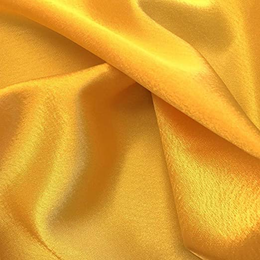 CHARMEUSE LIGHT SATIN POLYESTER FABRIC 60 SEWING DARK GOLD SOLID SILKY 75 YARDS