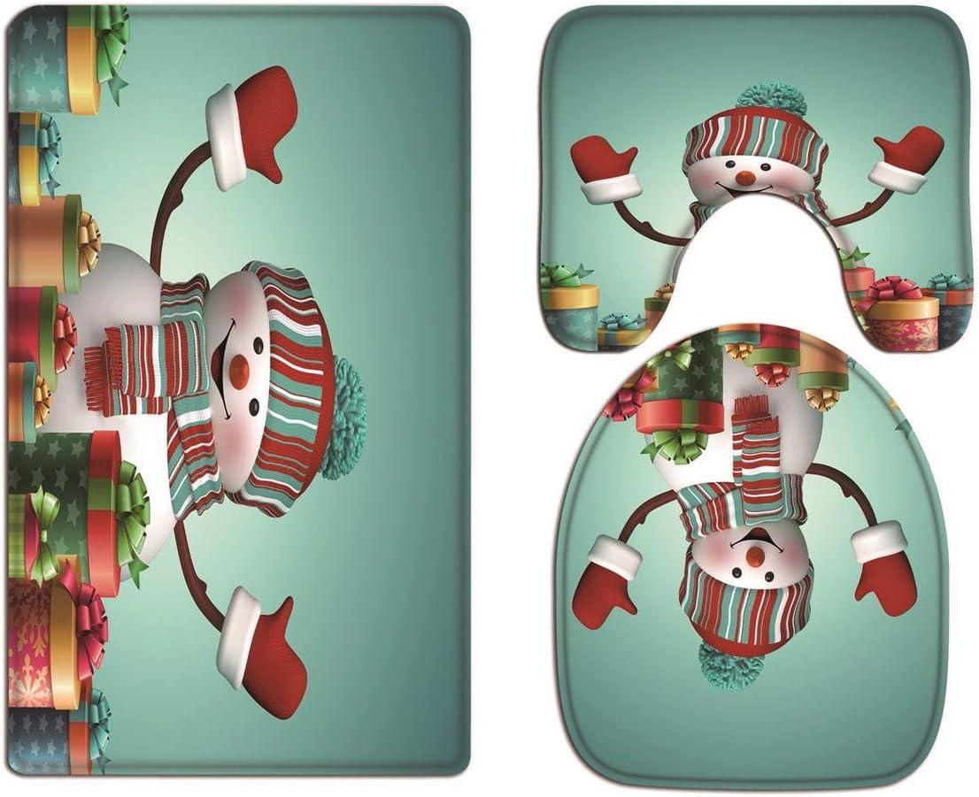 A.Monamour 3 Piezas Alfombrillas para Ba/ño Antideslizantes Franela Silueta De Sirena Luna Llena Fantas/ía Escena Nocturna Fondo Estrellado Negro WC Tapas de Inodoro Cubiertas de Cisterna