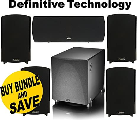 Definitive Technology ProMonitor 1000 Bookshelf Speakers Pair Black ProCenter Compact