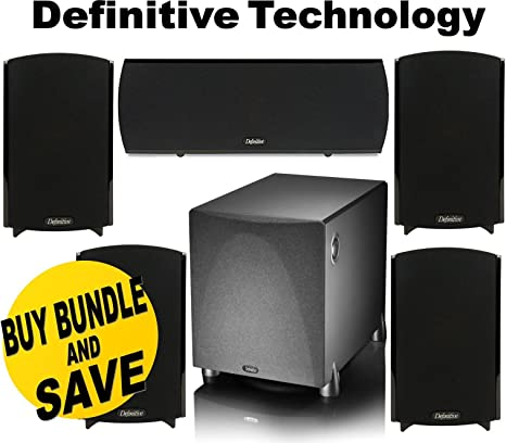 Black Surround Speaker Single Definitive Technology ProMonitor 1000