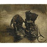Riproduzioni Van Gogh su tela 12X12 pollici (30 per 30 cm) Dipinti marrone