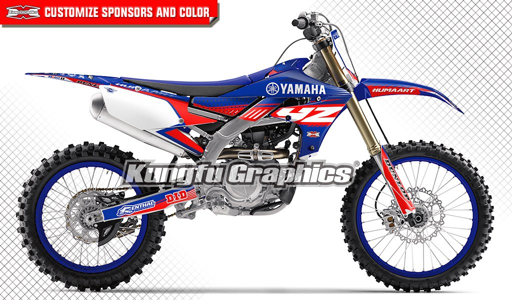 Kungfu Graphics Custom Decal Kit for 2018 2019 Yamaha YZF450
