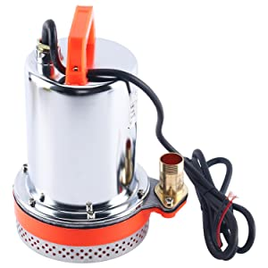 Amarine Made DC 12V Farm & Ranch Solar Water Pump Submersible Well booster Pump 26ft Lift