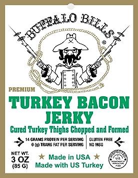 Buffalo Bills Premium 3oz Jerky Sampler 4-Pack (4 assorted packs of beef jerky & turkey bacon jerky)