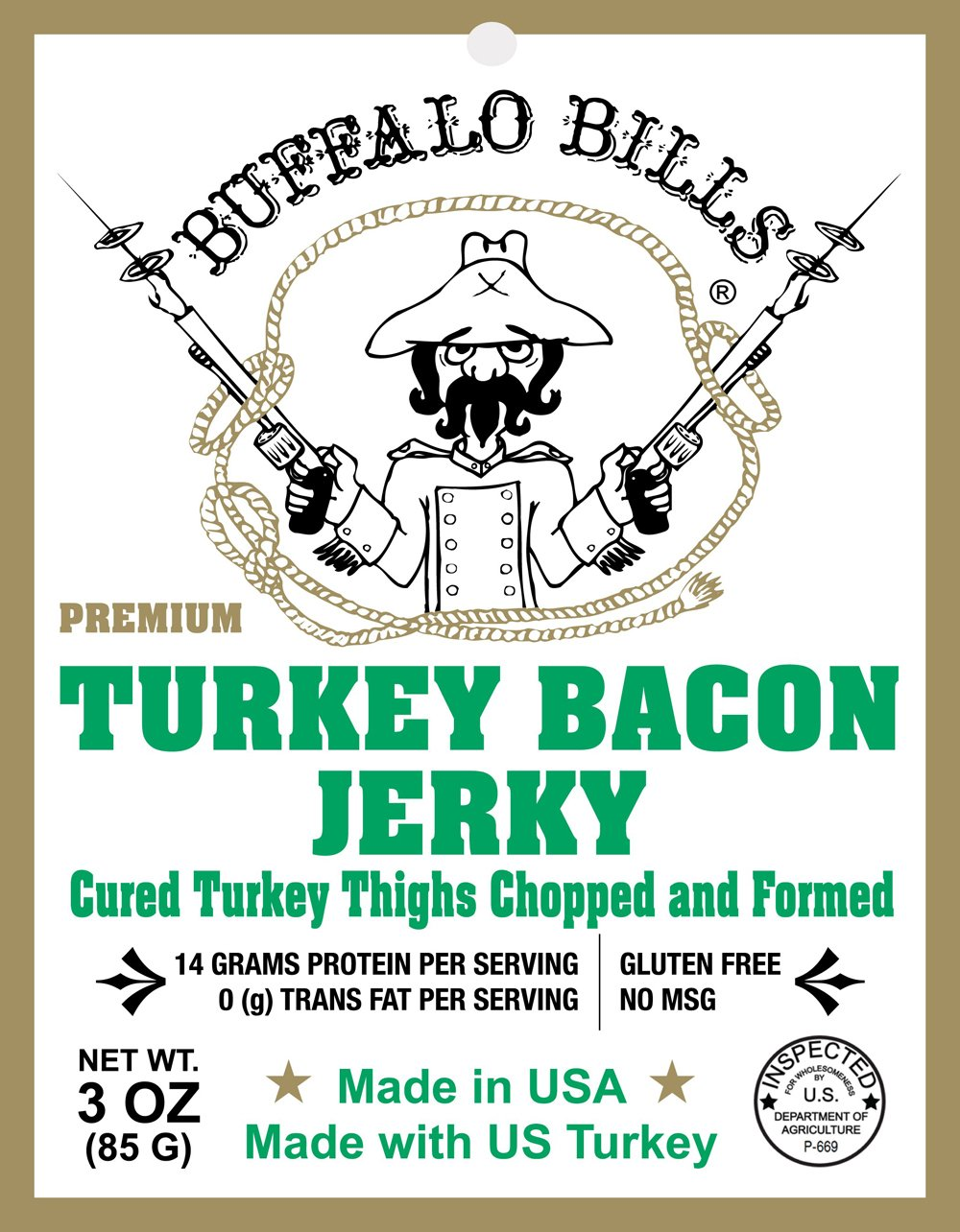 Buffalo Bills Premium 3oz Jerky Sampler 4-Pack (4 assorted packs of beef jerky & turkey bacon jerky) by Buffalo Bills (Image #5)