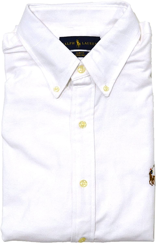 Ralph Lauren Hombre Polo Slim Fit Sport de Oxford Stretch