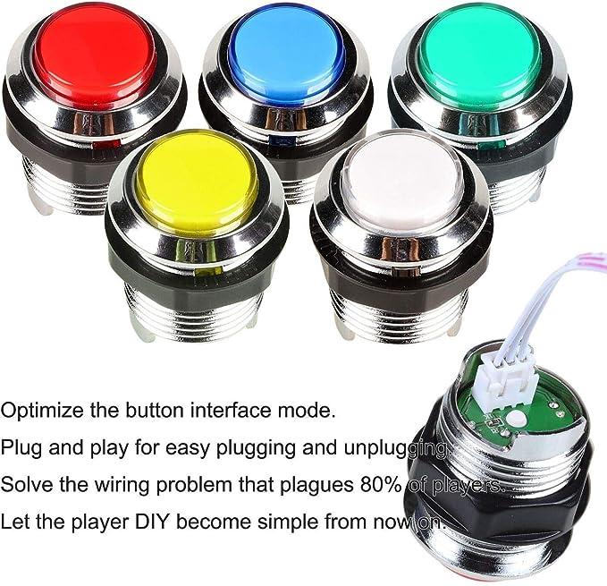 Arcade DIY Kit Mame Raspberry Pi Games 2 Arcade joystick 20 Chrome LED Buttons