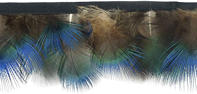 Amazon.com: ZUCKER 1 Yard Peacock Plumage Feather Fringe - 1.5-2 inch Bias Tape Trim Craft Supply - Natural: Arts, Crafts & Sewing