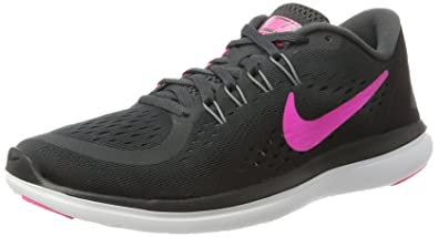 1acc82b0eed305 Nike Damen Women s Free RN Sense Running Shoe Hallenschuhe Mehrfarbig  (Anthracite Pink Blast-