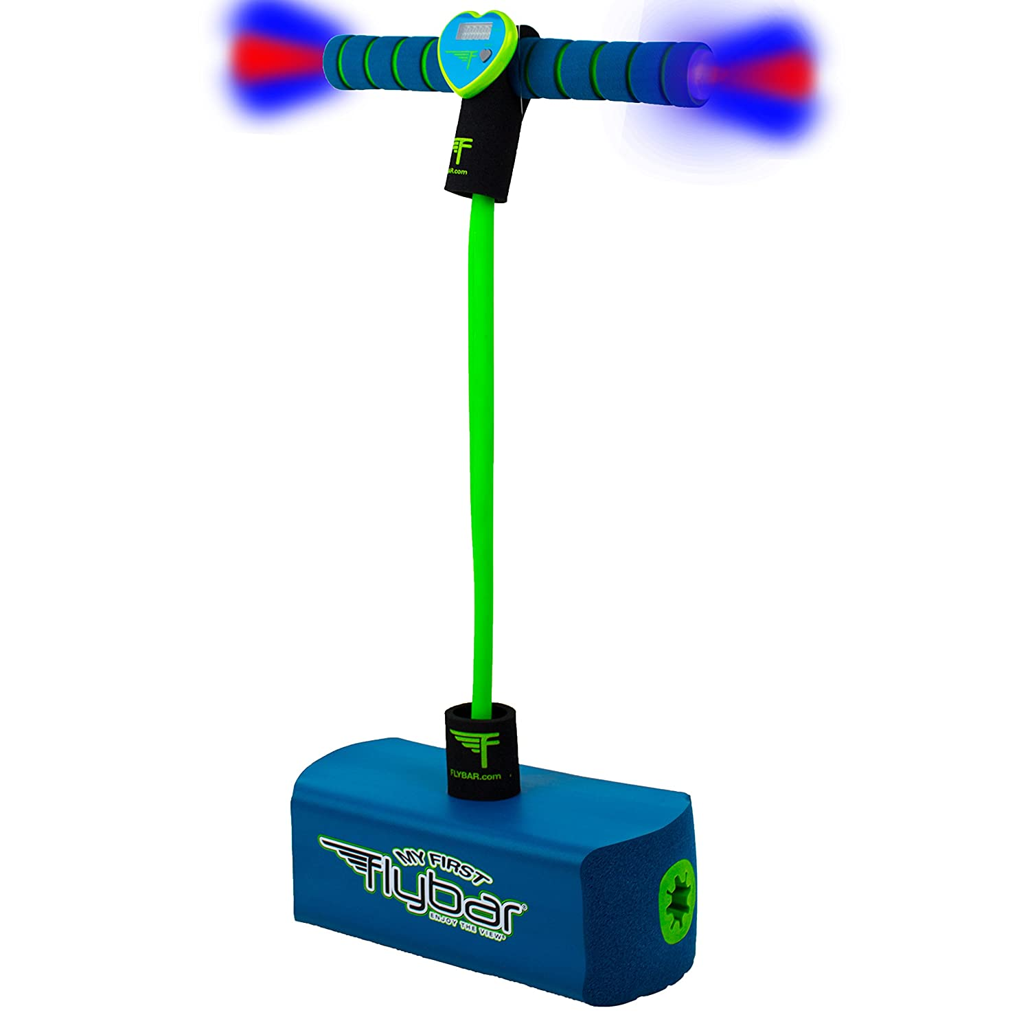 Flybar My First Pogo Pals Jumper for Kids Fun and Safe Pogo Stick for Toddlers, Durable Foam and Bungee Jumper for Ages 3 and up, Supports up to 250lbs (Frog)