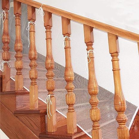 cococity Balcón extraíbley red de seguridad de la escalera, Red de seguridad para protección infantil Malla de seguridad ajustable para balcones de escaleras o patios, 200cmx75cm (Blanco): Amazon.es: Bebé