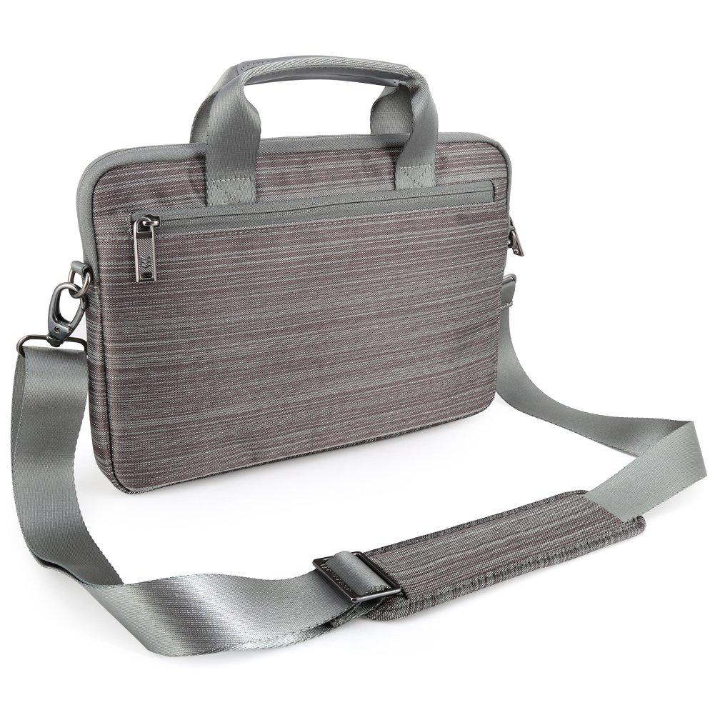 Macbook Chromebook Ordinateur Portable Gris Ultrabooks Evecase 11.6 /à 12 Pouces Sacoche en Nylon // Polyester de protection avec bandouli/ère et pochette frontale Pour Tablette PC
