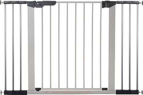 BabyDan 1 barra de fijación a presión para puertas y escaleras, color plateado/negro 73 - 80.5 cm: Amazon.es: Bebé