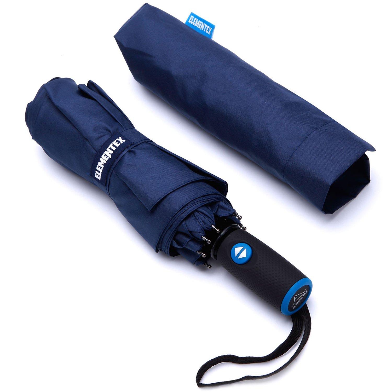ELEMENTEX Auto Umbrella DuPont Teflon Travel Umbrella with Windproof Vent - Navy
