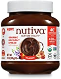 Nutiva Certified Organic, non-GMO, Vegan Hazelnut Spread with Cocoa, Chia and Flaxseed, Classic Chocolate, 13-ounces