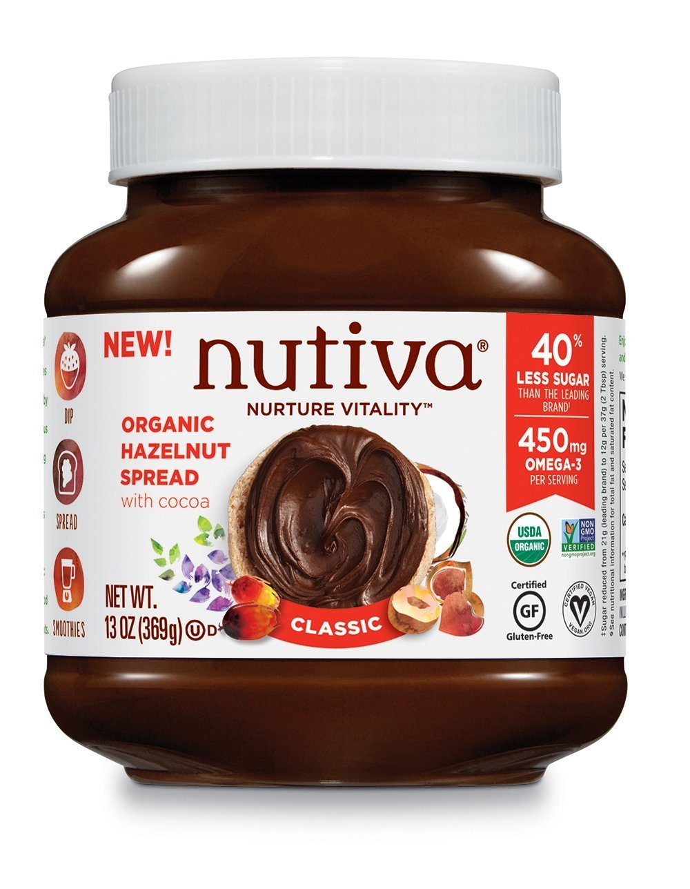 Nutiva Certified Organic, non-GMO, Vegan Hazelnut