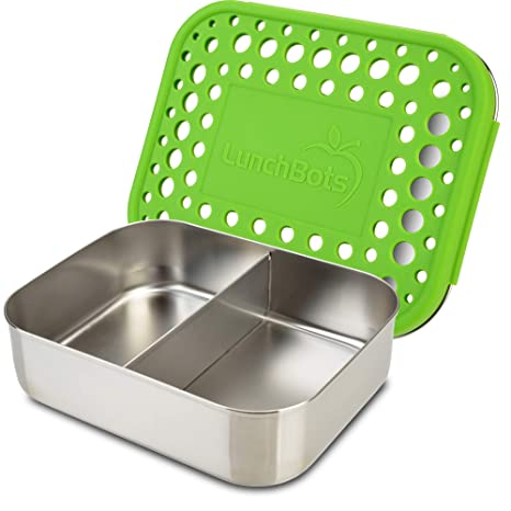 Amazon.com: LunchBots - Diseño de dos secciones perfecto ...