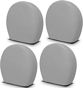 "YITAMOTOR Set of 4 Waterproof Tire Cover, Premium 5-ply Motorhome RV Wheel Covers, Waterproof UV Coating Tire Protectors, Universal Tire Cover, Fits 32""""- 34.5"""" Tire Diameters, Dark Gray"