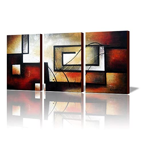 Awesome ARTLAND Modern 100% Hand Painted Abstract Oil Painting On Canvas The Maze  Memory 3