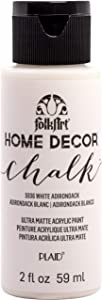 FolkArt Home Decor Chalk Furniture & Craft Paint in Assorted Colors, 2 Oz, White Adirondack
