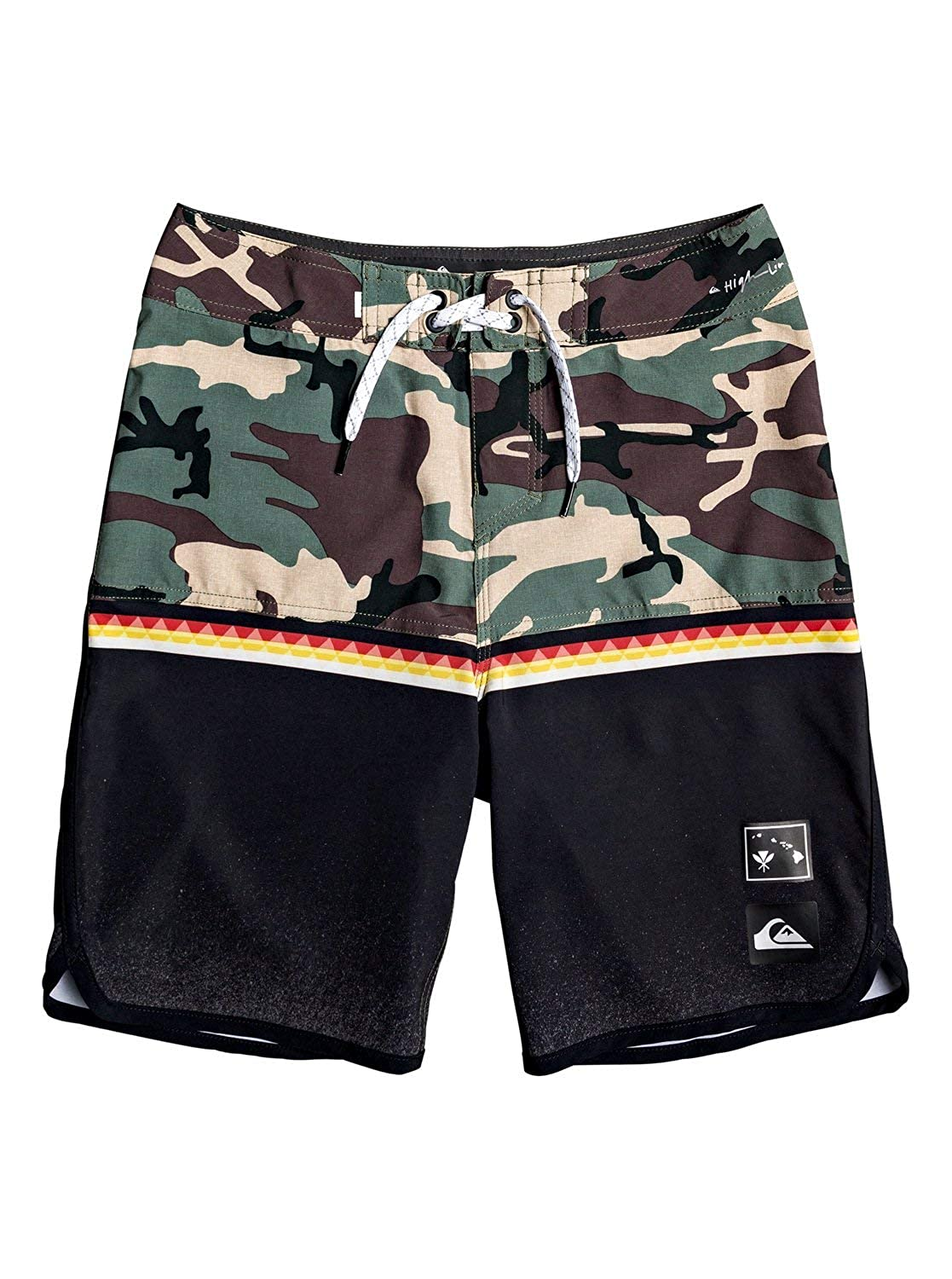 Quiksilver Boys Big Highline Divide Vrble Youth 18 Boardshort Swim Trunk