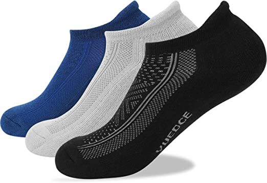 adidas Mens Cushioned Ankle Socks White Sports Running Breathable Lightweight