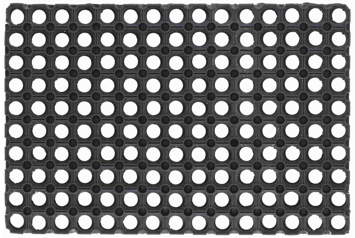 EV 070193 Alfombra Felpudo de goma perforada negra 40 x 80 cm antideslizante, negro Manifattura Quattro F. srl