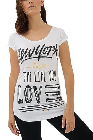 088b2b393eb trueprodigy Casual Femme Tee Shirt Motif imprimé