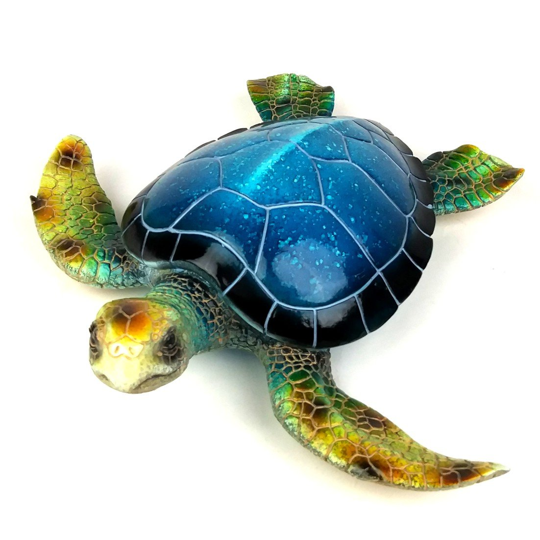 Nautical Gardens 16 Inch Large Blue Sea Turtle Figurine