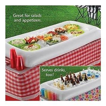 Amazon.com: Hinchable Servir Bar Bufé de ensalada Ice Cooler ...