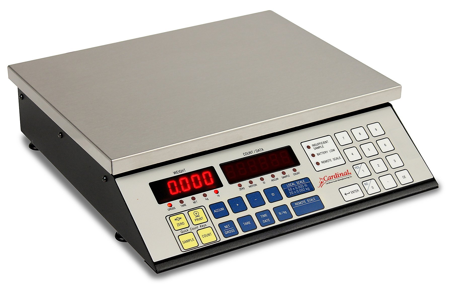 Detecto 2240-100 Counting Scale, Electronic, 100 lb. Capacity, 14.5'' x 8.25''