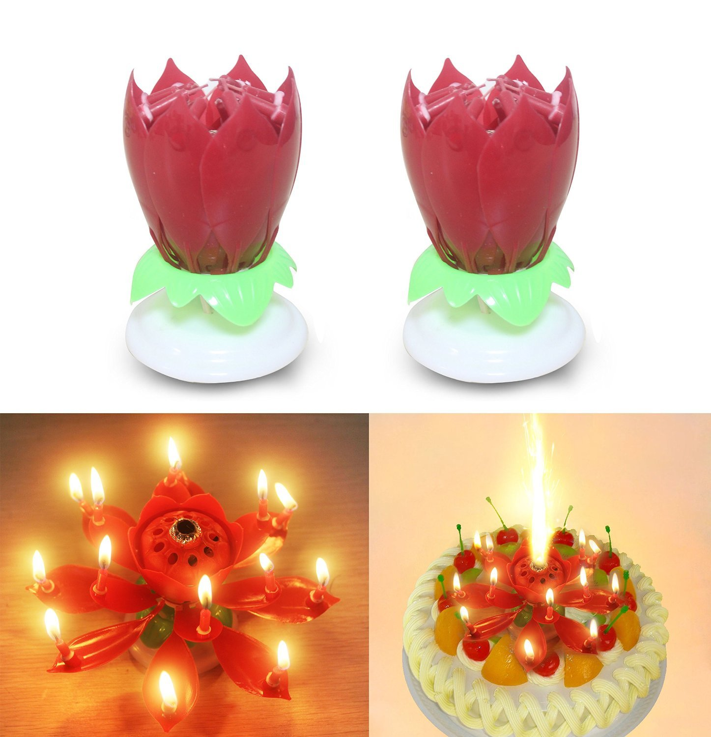 Sinfore 2pcs Set Of The Amazing Two Layers With 14 Small Candles
