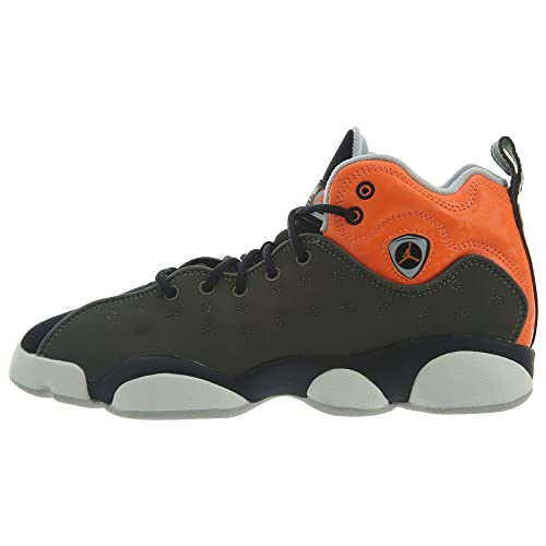 half off d9583 81d69 Nike Jordan Jumpman Team II GS 820273-300 Leather Synthetic Youth Trainers  - Twilight Marsh Total Orange - 40  Amazon.ca  Shoes   Handbags