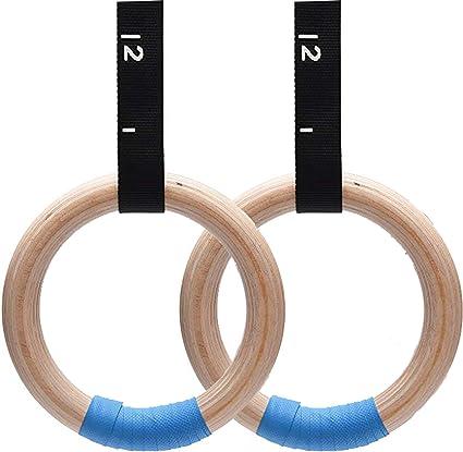 Gym Ring Wooden Gymnastic Rings Fitness Rings Garage Fit Wood Gym Rings Gymnastics Rings Exercise Rings Gymnast Rings