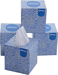 Kleenex Facial Tissue Cube Box, 50 Sheets per Box, 2 Ply, 4 Box Combo, 60040