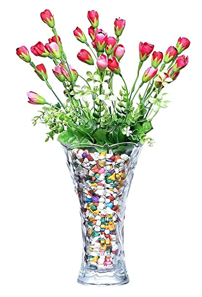 272 & PRAX Decorative CLASSIC Flower Vase (Medium Length 9 INCH Breath 5 INCH)