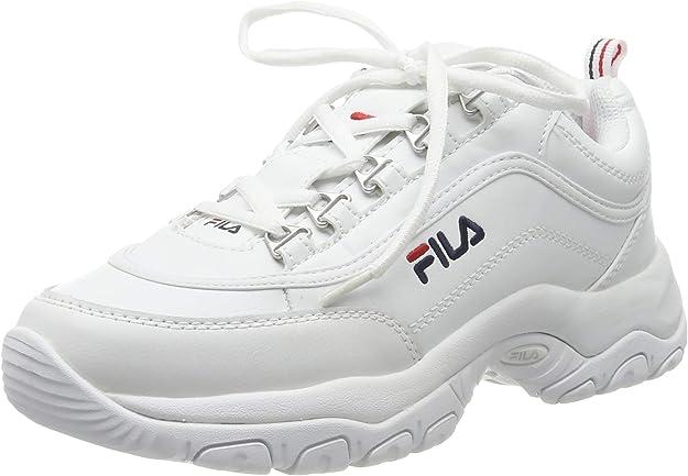 FILA Strada, Zapatillas para Mujer, White, 42 EU: Amazon.es: Zapatos y complementos