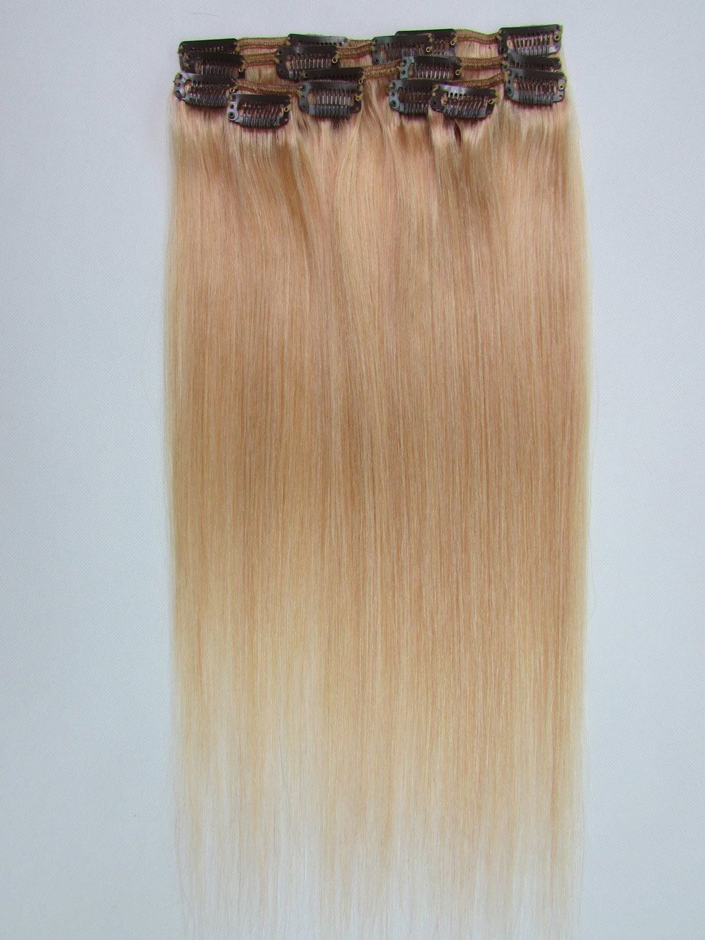 Amazon 20 Clip In Remy Human Hair Extensions 27 Strawberry