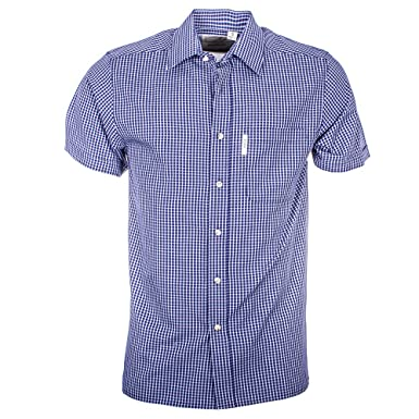 c95effc9c3b Rydale Men s Short Sleeved Shirts Check Patterned 100% Cotton Work Casual  Shirt  Amazon.co.uk  Clothing