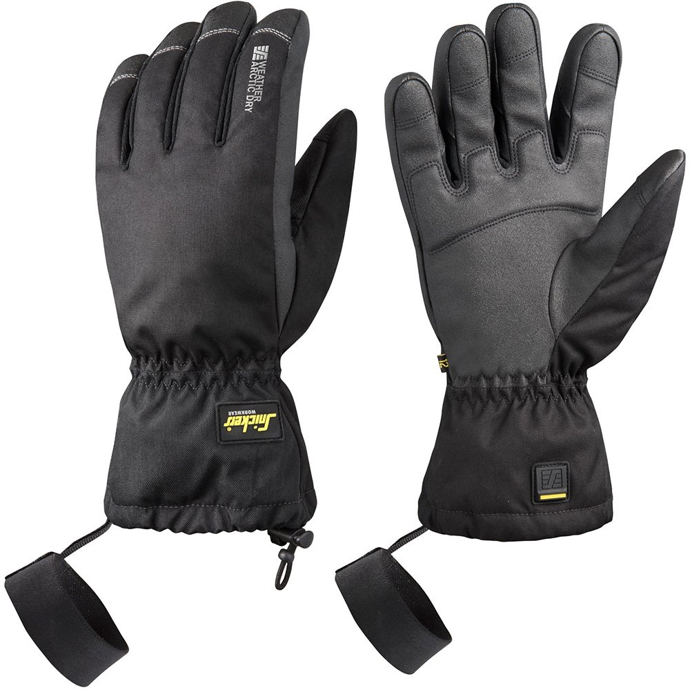 Snickers 95760404008 ''Arctic Dry'' Weather Gloves, 8, Black