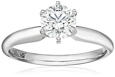 2c97ae14f004cd IGI Certified 14k White Gold Lab Created Diamond Solitaire Engagement Ring (1  carat, G-H
