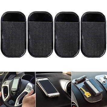 DUBENS Juego de 4 Teléfono Móvil Soporte de coche coche estera antideslizante de Pad, para aparatos electrónicos, Adhesive de alfombrilla antiadherente, ...