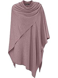 db5f0ed11cc097 Cashmere Dreams Poncho-Schal mit Kaschmir - Hochwertiges Cape für Damen -  XXL Umhängetuch und