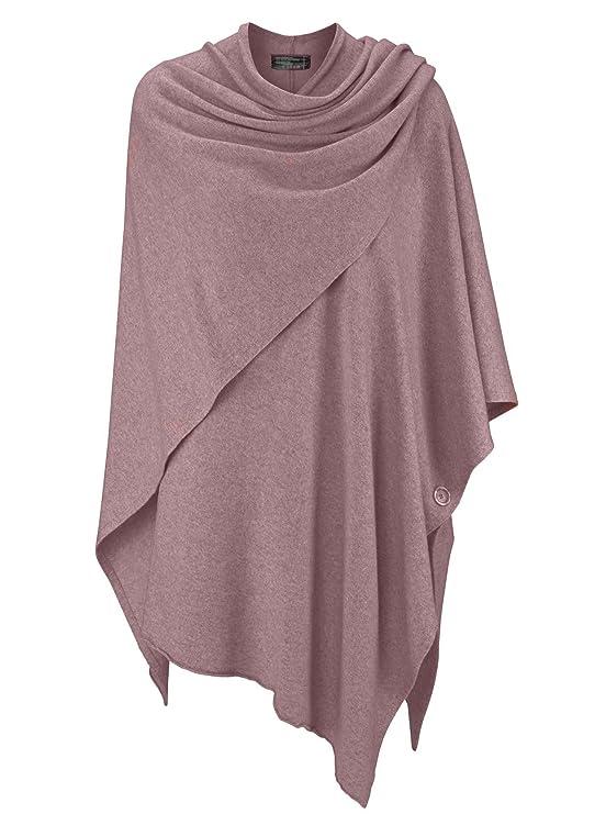 Cashmere Dreams Poncho-Schal mit Kaschmir - Hochwertiges Cape für Damen - XXL Umhängetuch und Tunika mit Ärmel - Strick-Pullo