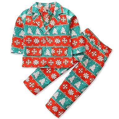 Haokaini Trajes de Navidad para niños de 3 Piezas para niños ...