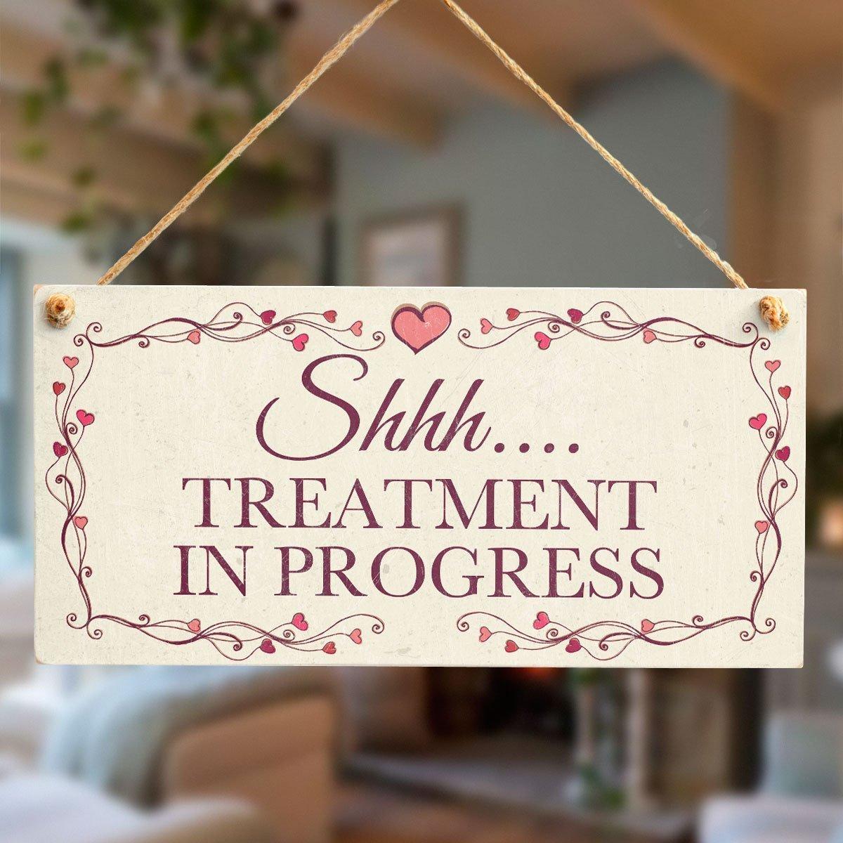 Shhh/… Lovely Hanging Door Sign Great for Home Beauty Salon Door Pampering in Progress