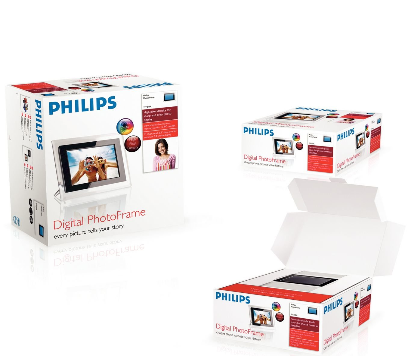 Philips PhotoFrame 7FF2FPA/00 - Marco digital (17,8 cm (7
