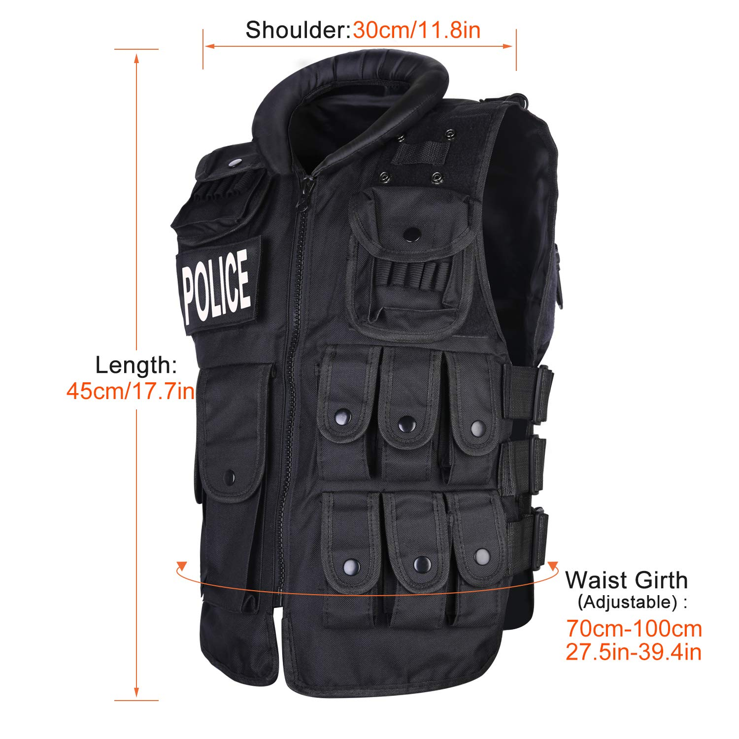 5dc3b63cb7b5d UNIQUEBELLA 600D Nylon SWAT / POLICE / FBI Airsoft CS Game/ Hunting  Military Combat vest/Traning Protective Security Vest For Adult,  Teenager(under 13 year ...