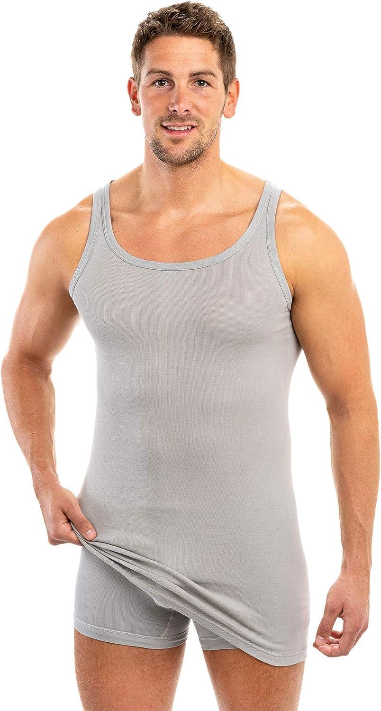 +ca. 10 cm 100/% algod/ón HERMKO 3007 Pack de 3 Camisetas Interiores largas